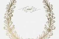 Golden Wreath  Wedding Invitation Template Free  Greetings with regard to Blank Templates For Invitations