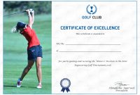 Golf Excellence Certificate Design Template In Psd Word with regard to Golf Certificate Templates For Word