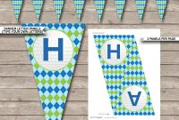 Golf Party Banner Template  Happy Birthday Banner  Editable Bunting within Free Printable Party Banner Templates