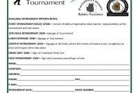 Golf Tournament Sponsorship for Golf Tournament Sponsorship Agreement Template