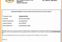 Good Conduct Letter  Quick Askips throughout Good Conduct Certificate Template