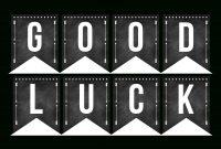 Good Luck Banner Template Best Template Examples  Sweet Eats with Good Luck Banner Template