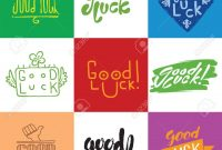 Good Luck Hand Lettering Greeting Backgrounds Good Luck Lettering with regard to Good Luck Banner Template