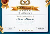 Graceful Certificate Template Vector Image On Vectorstock in Qualification Certificate Template