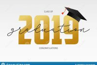 Graduating Card Template Class Of   Banner With Gold Numbers within Graduation Banner Template
