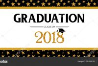 Graduation Class Of  Greeting Banner Template Vector Party regarding Graduation Banner Template