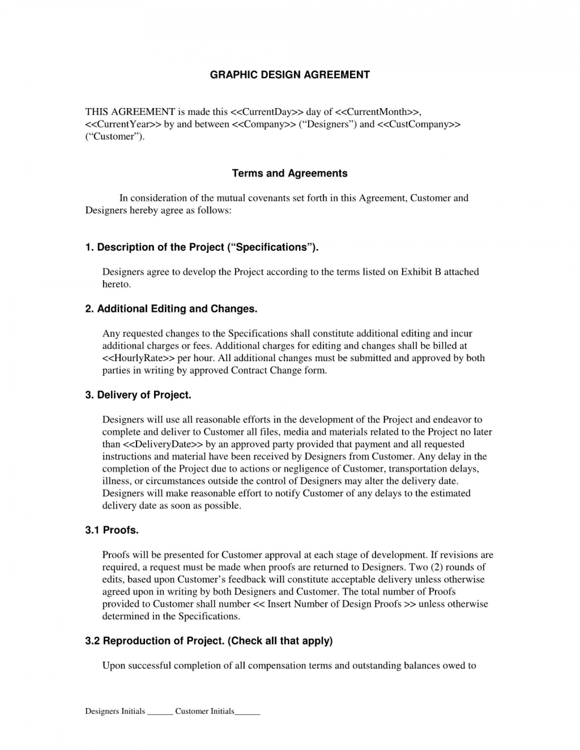 Graphic Design Contract Template Pdf Ideas Logo Agreement Throughout Design Retainer Agreement Templates