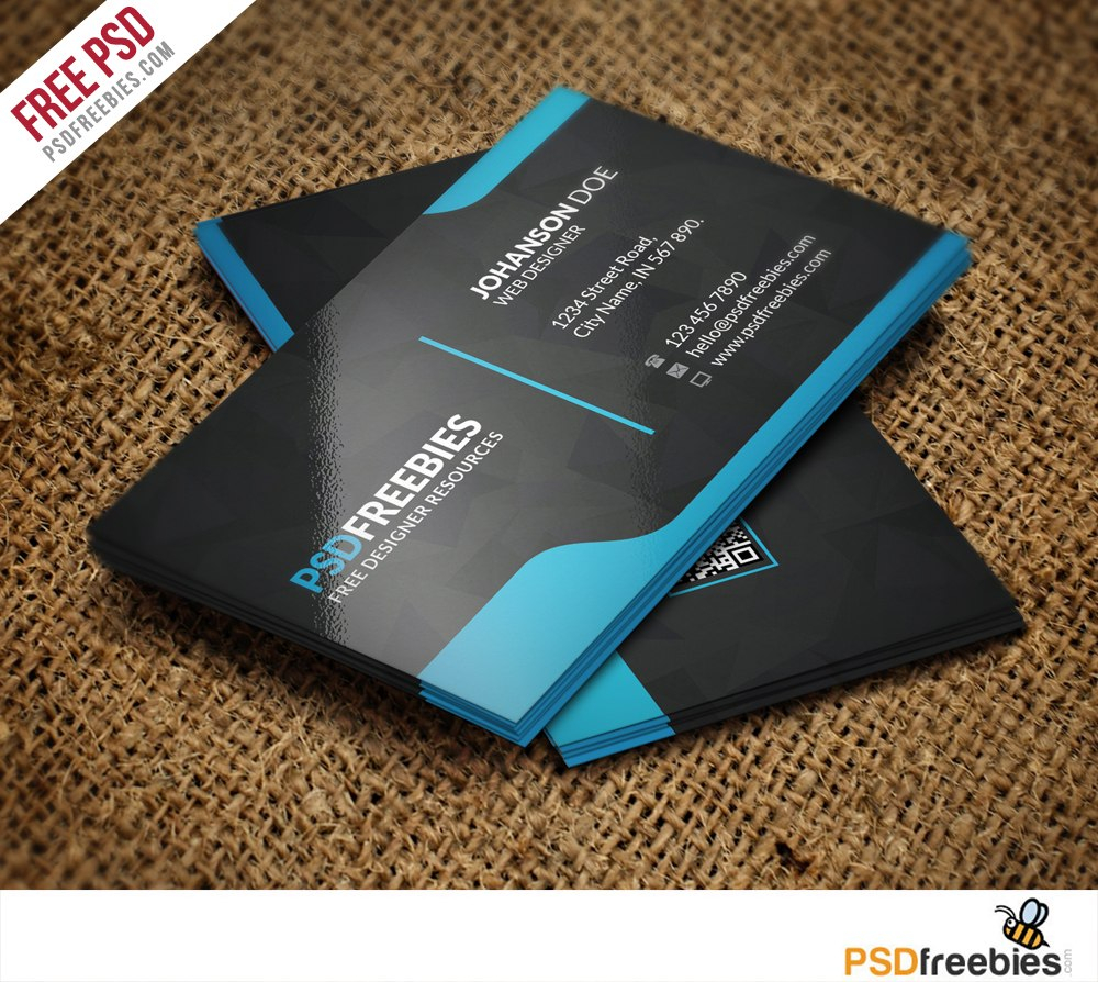 Graphic Designer Business Card Template Free Psd  Psdfreebies Inside Photoshop Name Card Template