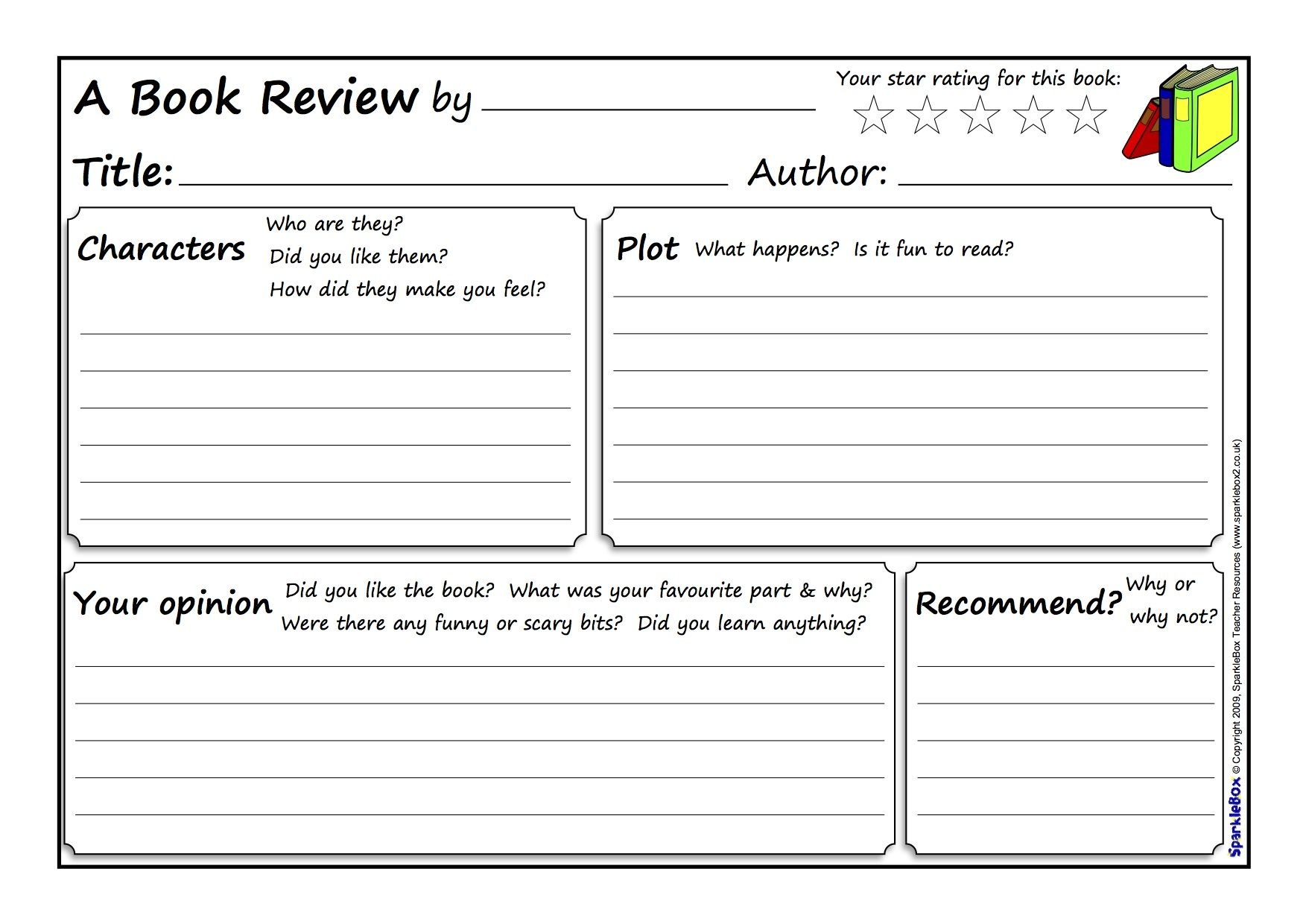 Great Book Review Template …  Reading  Book … Within Science Report Template Ks2