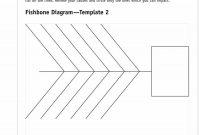 Great Fishbone Diagram Templates  Examples Word Excel within Blank Fishbone Diagram Template Word