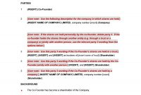 Great Founders Agreement Tramples For Any Startup ᐅ pertaining to Founders Shareholder Agreement Template