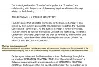 Great Founders Agreement Tramples For Any Startup ᐅ regarding Startup Founders Agreement Template