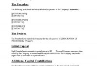 Great Founders Agreement Tramples For Any Startup ᐅ throughout Startup Founders Agreement Template