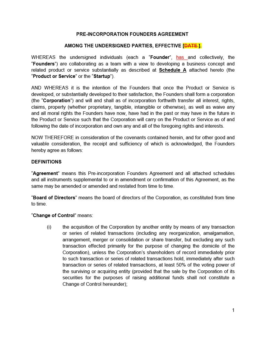 Great Founders Agreement Tramples For Any Startup ᐅ Within Startup Founders Agreement Template
