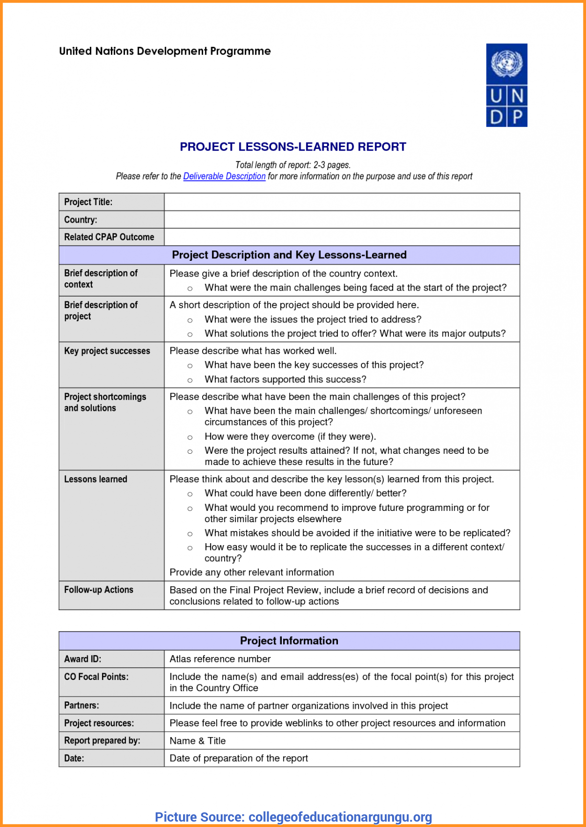 Great Hse Lessons Learned Template  Lessons Learnt Report Template Intended For Hse Report Template