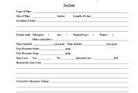 Great Hydrostatic Pressure Test Report Template Photos Tm for Hydrostatic Pressure Test Report Template