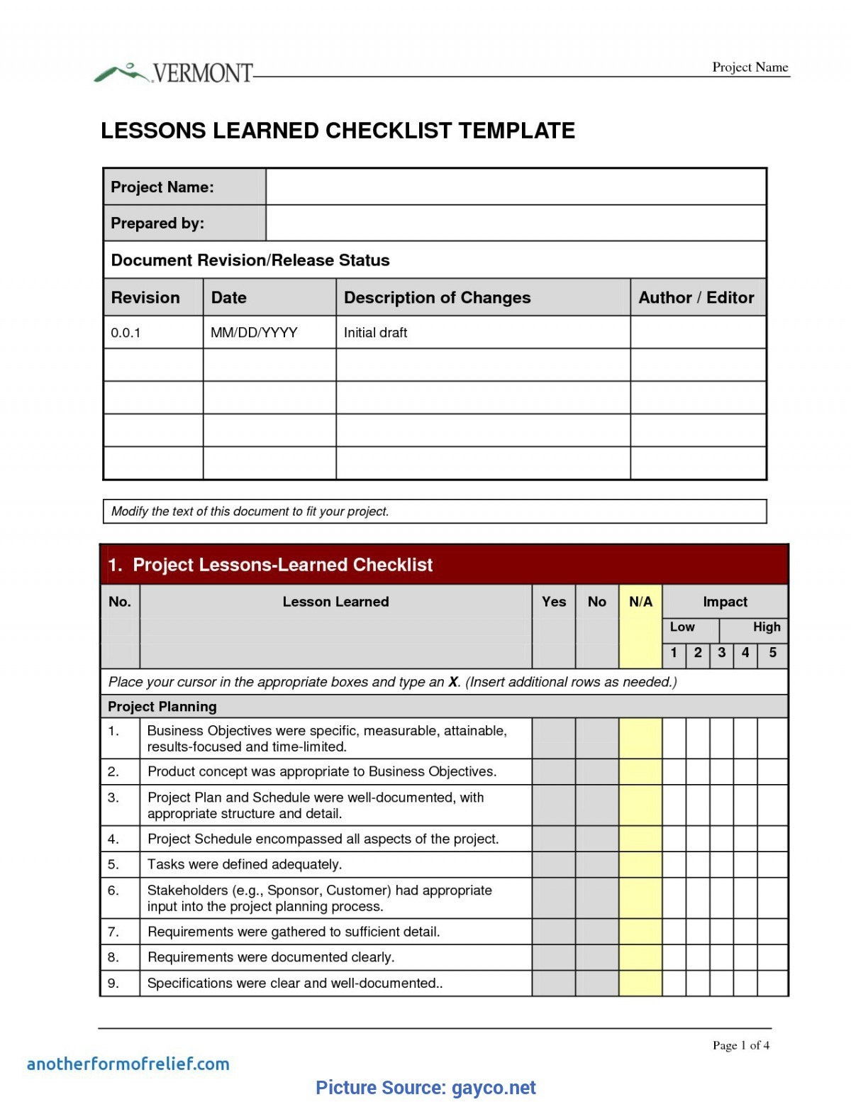 Great Lessons Learnt Template Checklist Prince Lessons Learned Inside Prince2 Lessons Learned Report Template