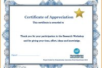 Great Template For Certificate Of Participation In Workshop Images in Certificate Of Participation In Workshop Template