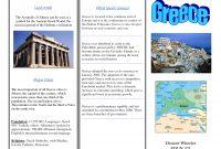 Greece Travel Brochurekids Writing Project  Europe Unit  Travel in Travel Brochure Template Ks2
