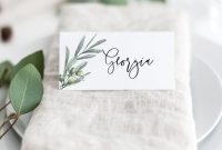 Greenery Printable Wedding Escort Place Cards  Editable Wedding for Printable Escort Cards Template