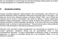 Guidelines For Foreign Exchange Settlement Netting  Pdf with Master Risk Participation Agreement Template
