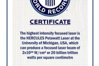 Guinness World Record Certificate Template Professional  Mandegar within Guinness World Record Certificate Template