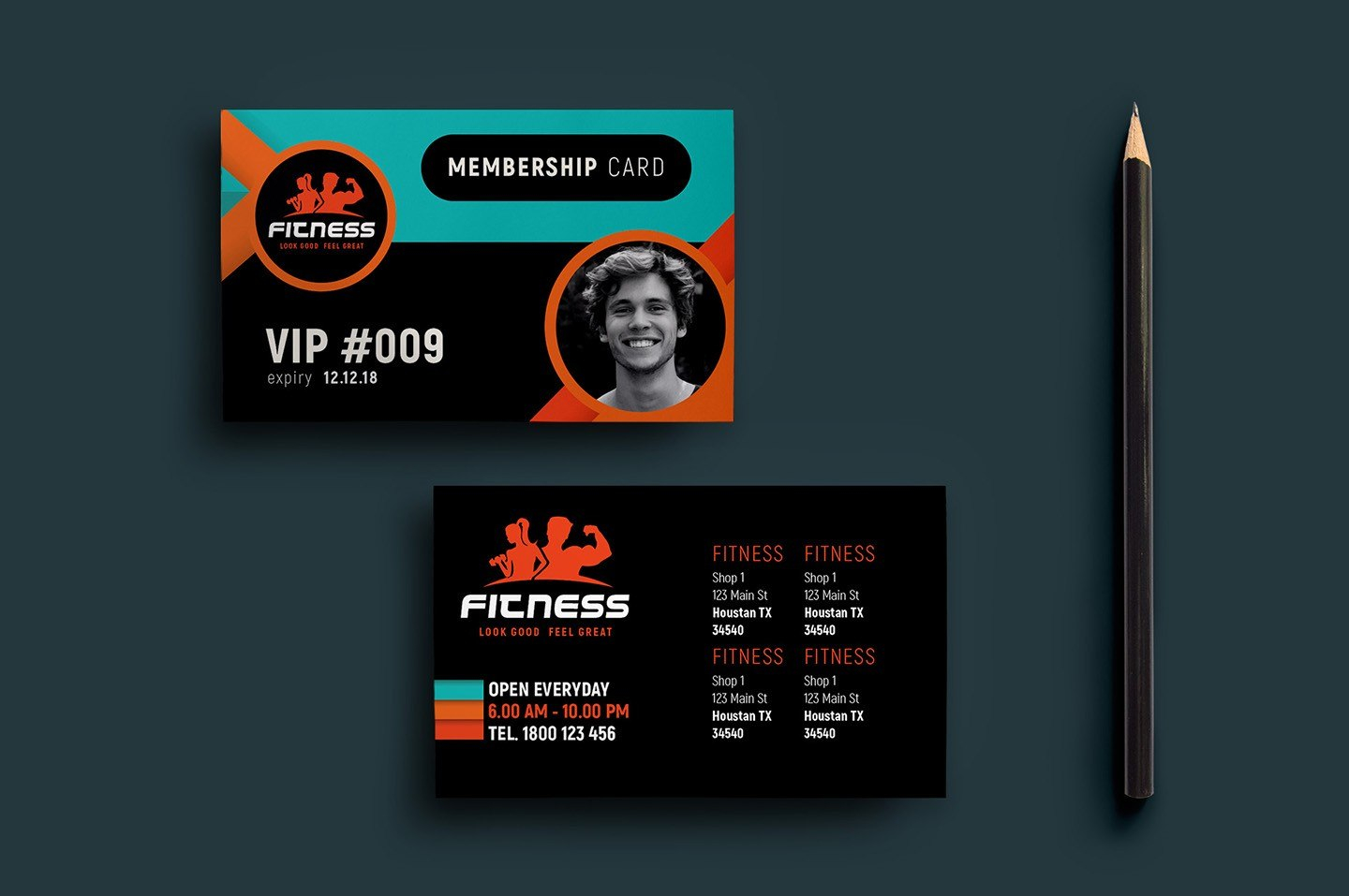 Gym Fitness Membership Card Template In Psd Ai Vector – Nurul Amal Intended For Gym Membership Card Template