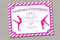Gymnastics Award Certificate Dance Award Printable Digital  Etsy in Gymnastics Certificate Template