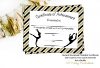 Gymnastics Award Gymnastics Certificate Printable  Etsy intended for Gymnastics Certificate Template