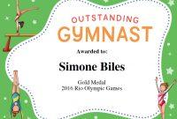 Gymnastics Quotes  Simone Biles Gabby Douglas  Aly Raisman Quotes within Gymnastics Certificate Template