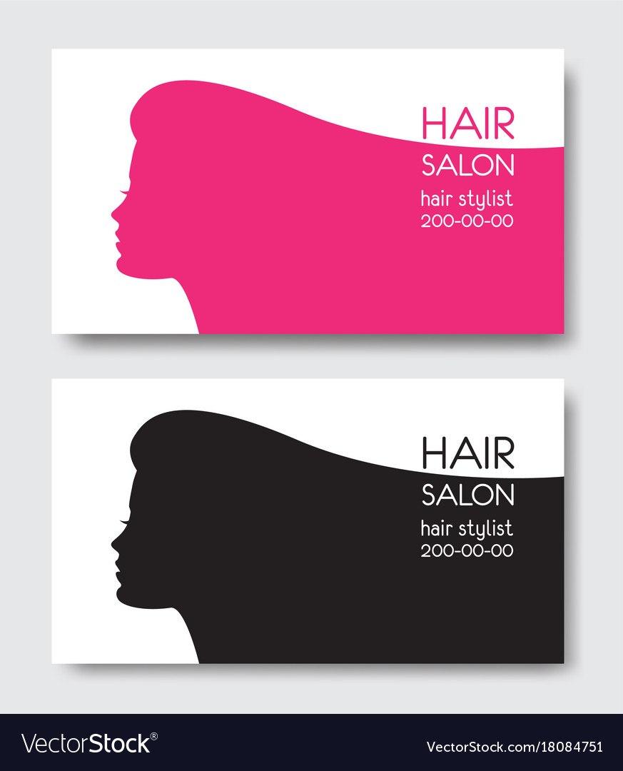 Hair Salon Business Card Templates With Beautiful Vector Image For Hair Salon Business Card Template