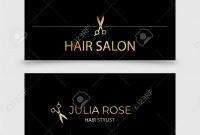Hair Salon Hair Stylist Business Card Vector Template Royalty Free in Hair Salon Business Card Template