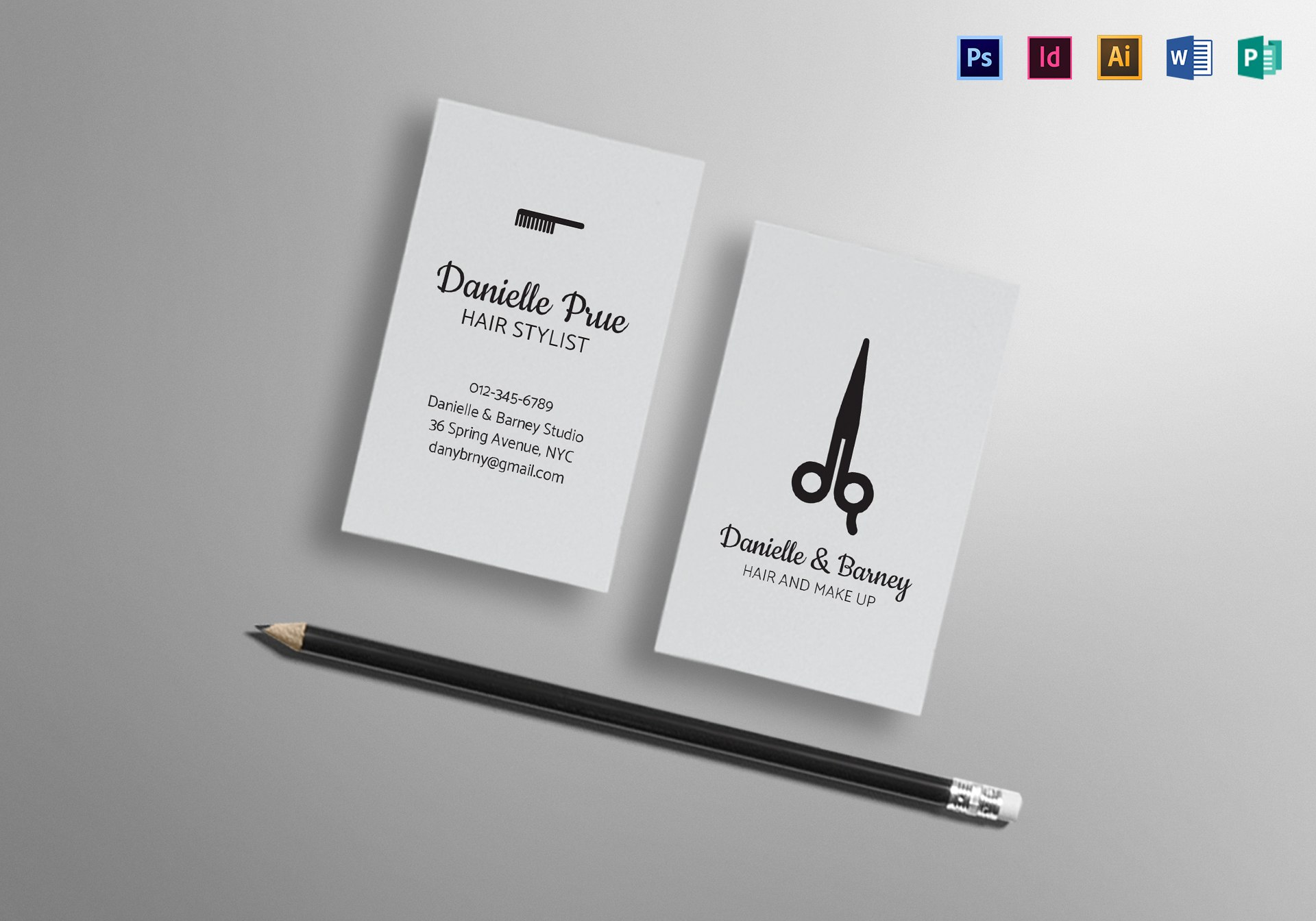 Hair Stylist Business Card Design Template In Psd Word Publisher Throughout Hair Salon Business Card Template