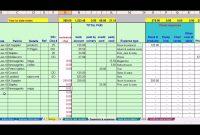 Hairdresser Bookkeeping Spreadsheet  Bookkeeping  Small Business with Bookkeeping For A Small Business Template