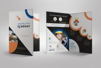 Half Fold Brochure Template For Construction Company Stationary in Half Page Brochure Template