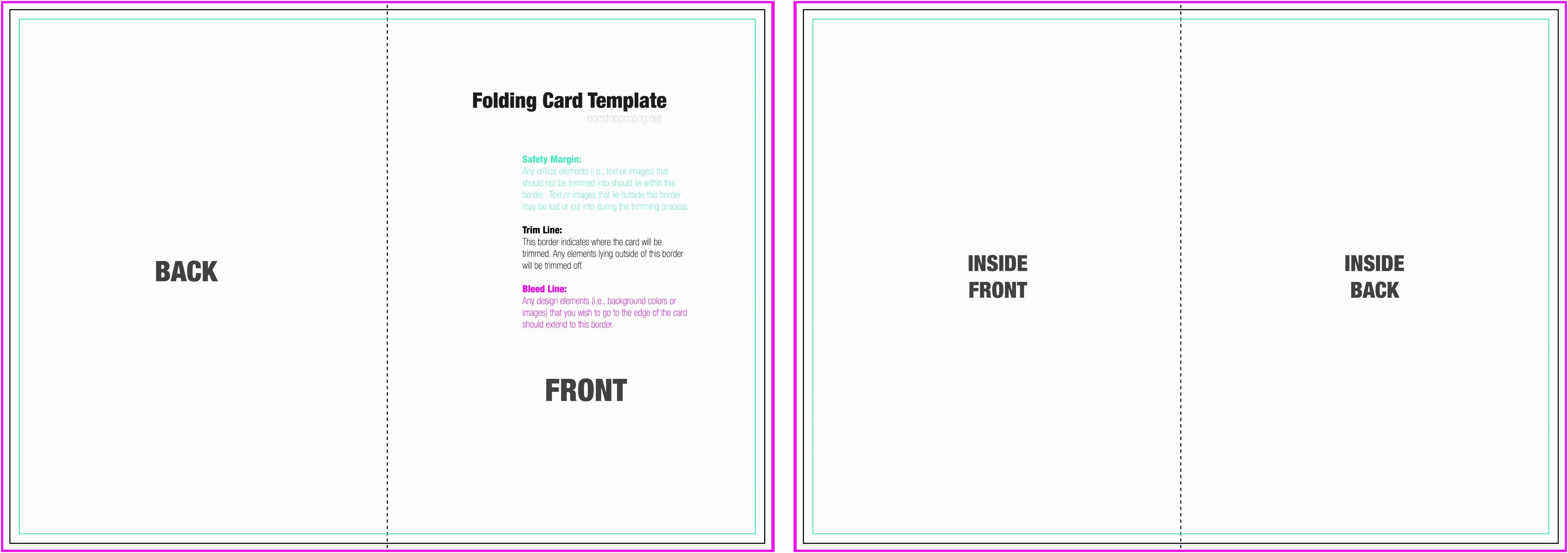 Half Fold Card Template Luxury  Blank Half Fold Card Template Intended For Half Fold Card Template