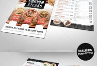 Half Fold Menu Mockup  Mockup  Menu Template Pizza Menu Design with regard to Half Fold Menu Template