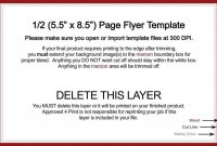 Half Page Word Template – Docxword with Quarter Sheet Flyer Template Word