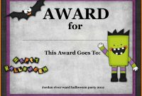 Halloween Award Templates  Plasticmouldings intended for Halloween Certificate Template
