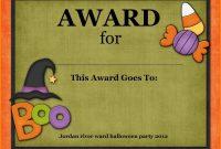 Halloween Award Templates  Plasticmouldings throughout Halloween Costume Certificate Template