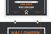 Halloween Best Costume Award Certificate Template  Halloween for Halloween Costume Certificate Template