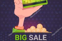 Hand Holding Credit Card Over Big Sale St Patrick Day Holiday regarding Credit Card Templates For Sale