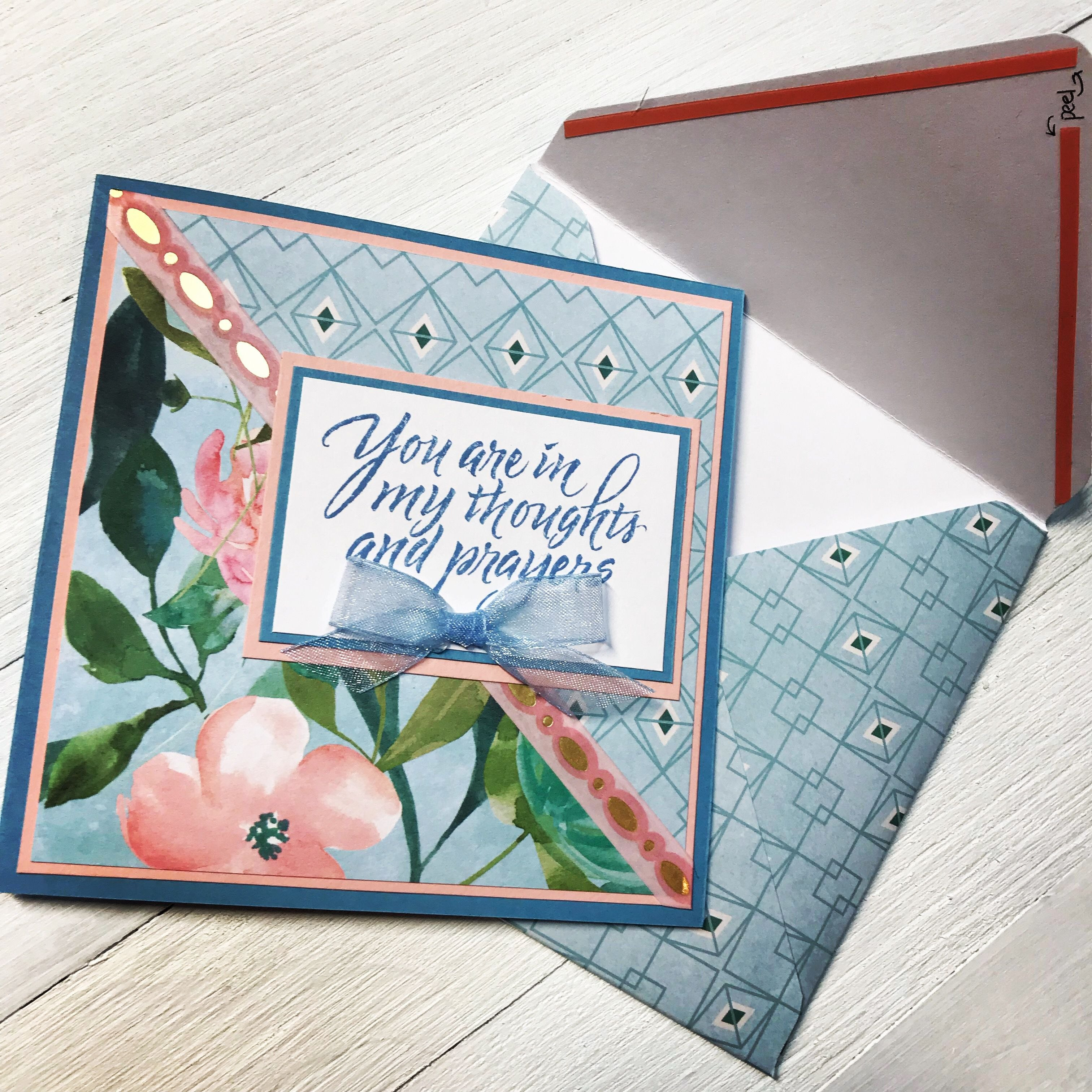 Handmade Card Using Spring Posies Paper Padrecollections At Intended For Recollections Card Template