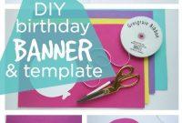 Happy Birthday Banner Diy Template  Home Decor  Diy Birthday in Diy Party Banner Template