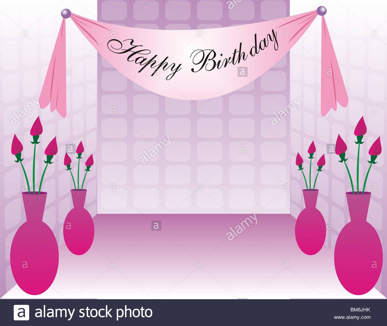 Happy Birthday Banner Stock Photos  Happy Birthday Banner Stock With Sweet 16 Banner Template