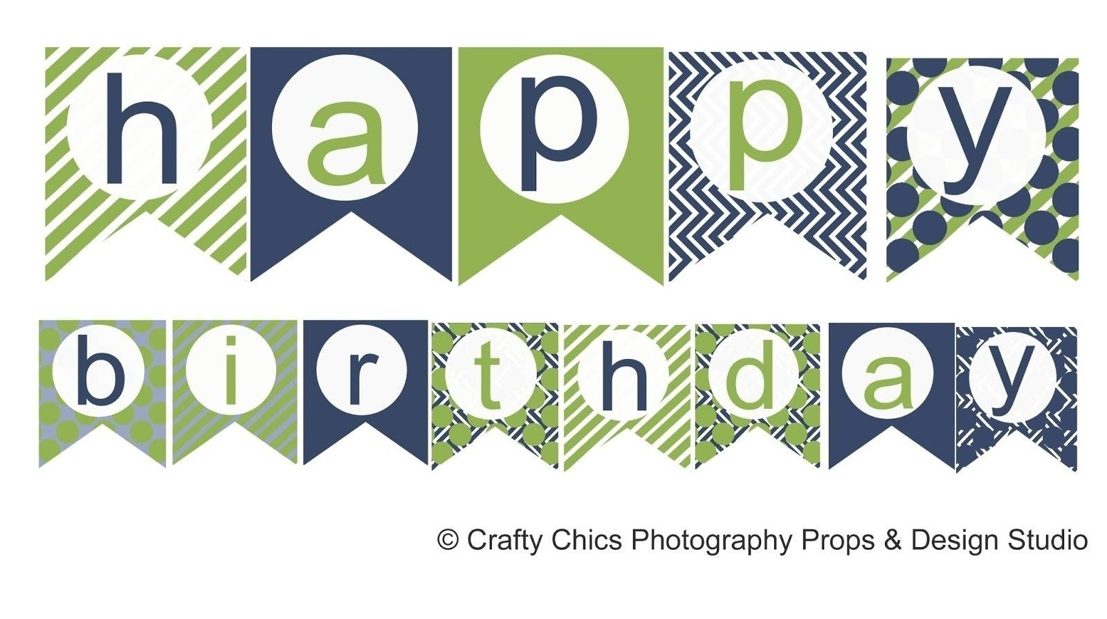 Happy Birthday Banner Template Printable  World Of Label Regarding Free Printable Party Banner Templates