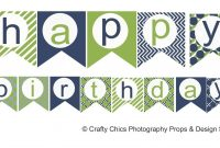 Happy Birthday Banner Template Printable  World Of Label with regard to Free Printable Happy Birthday Banner Templates