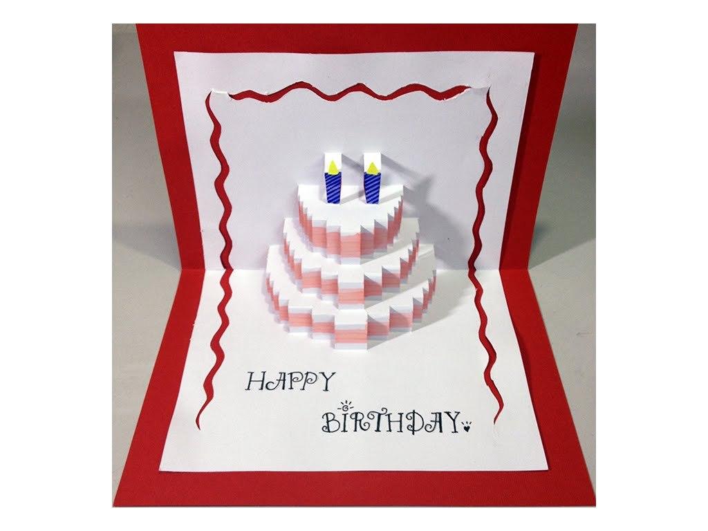 Happy Birthday Cake  Popup Card Tutorial  Free Cake Videos With Regard To Happy Birthday Pop Up Card Free Template