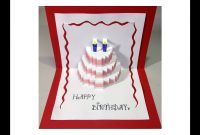Happy Birthday Cake  Popup Card Tutorial pertaining to Free Pop Up Card Templates Download