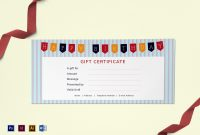 Happy Birthday Gift Certificate Design Template In Psd Word within Present Certificate Templates